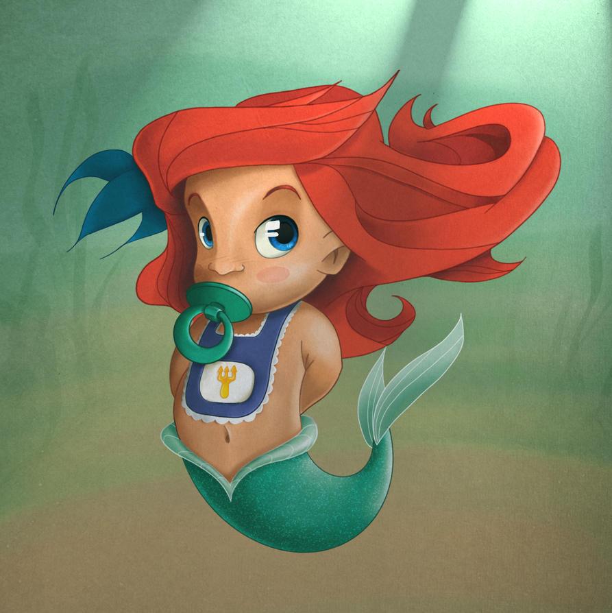 Disney Baby Ariel by Joe128 on DeviantArt