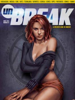 ilustration of Black Widow to Unbreak Magazine