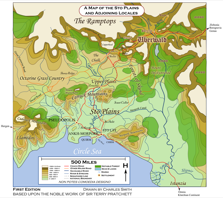 on discworld map