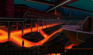 Concept - Lava Settlement by Edowaado