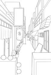 Perspective - Japanese Alley by Edowaado