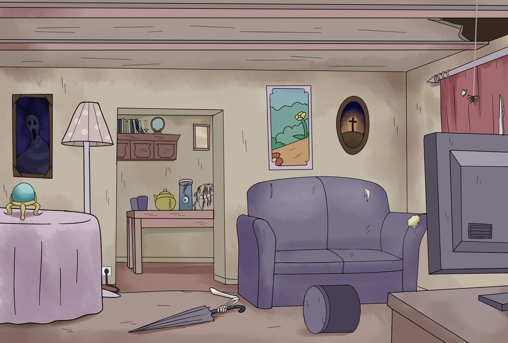 Creepy Room (Style Exercise) by Edowaado