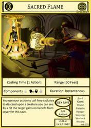 DnD Cantrip - Sacred Flame by Edowaado