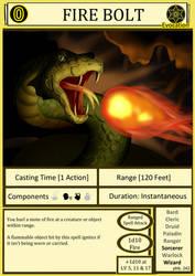 DnD Cantrip - Fire Bolt by Edowaado