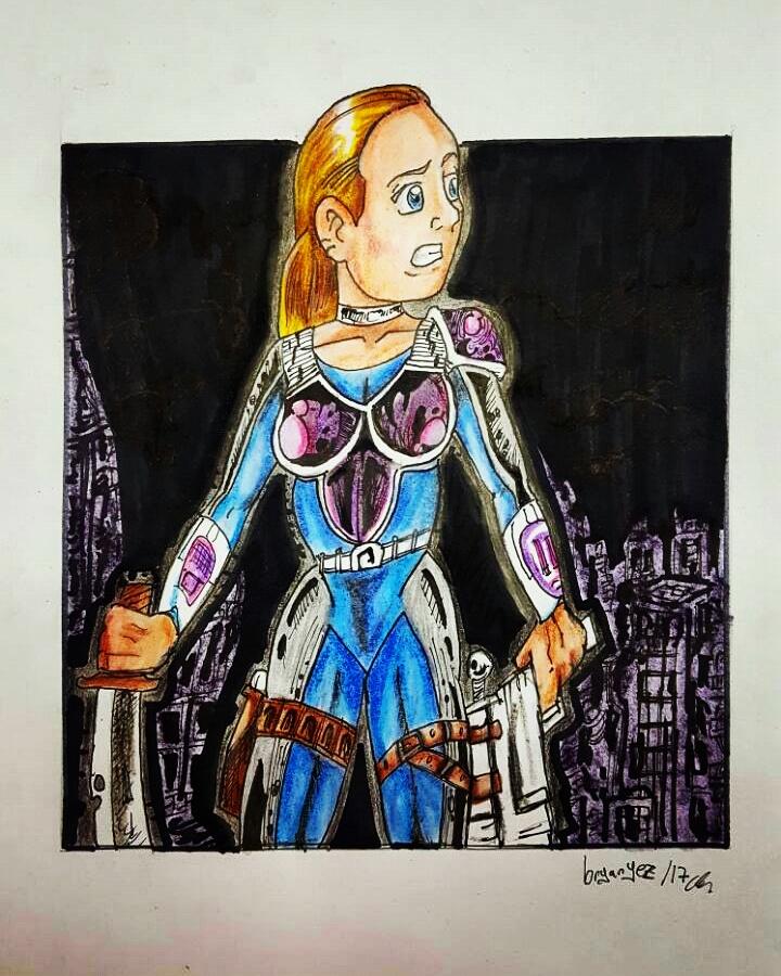 Galactic Girl Drawing by bryanyez