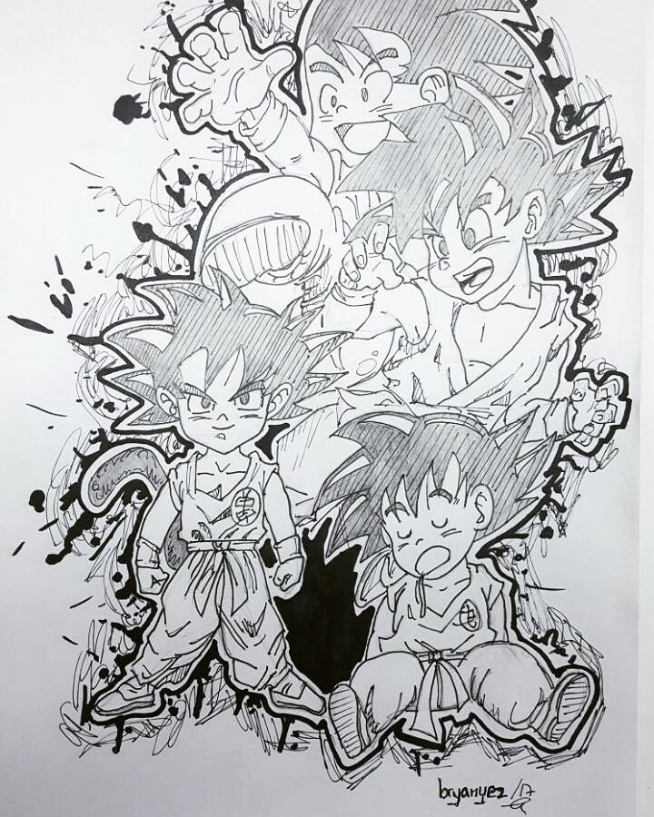Dragon Ball ||San Goku Drawing by bryanyez