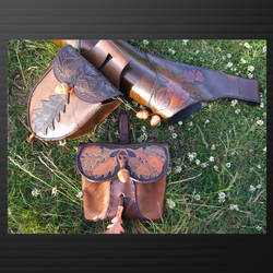 acorn and oak leaf pouches and quiver by tim23