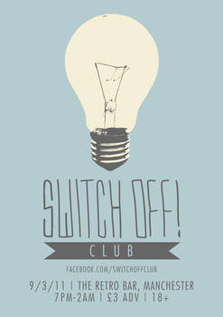 Switch Off Club Night Poster