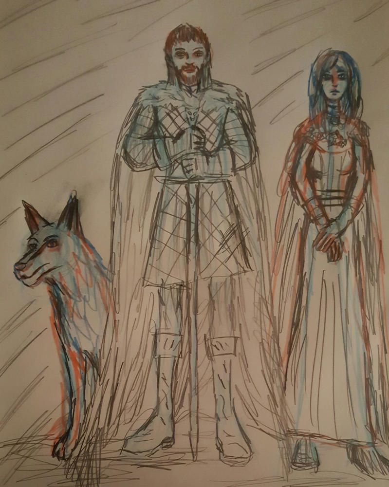 The King in the North and the Lady of Winterfell s by TheRavensBastard39