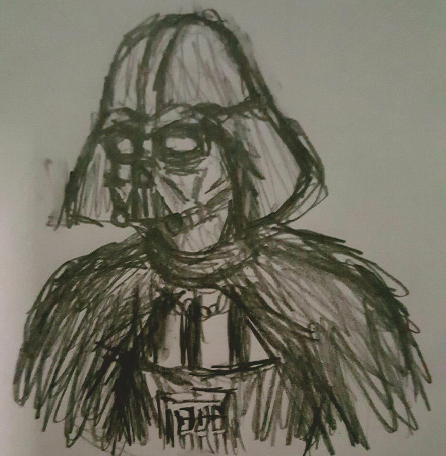 Darth Vader doodle sketch by TheRavensBastard39