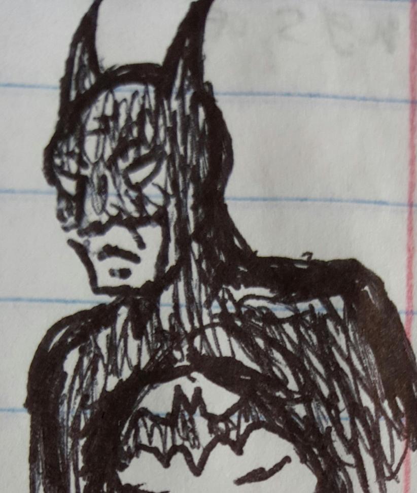Batman doodle by TheRavensBastard39