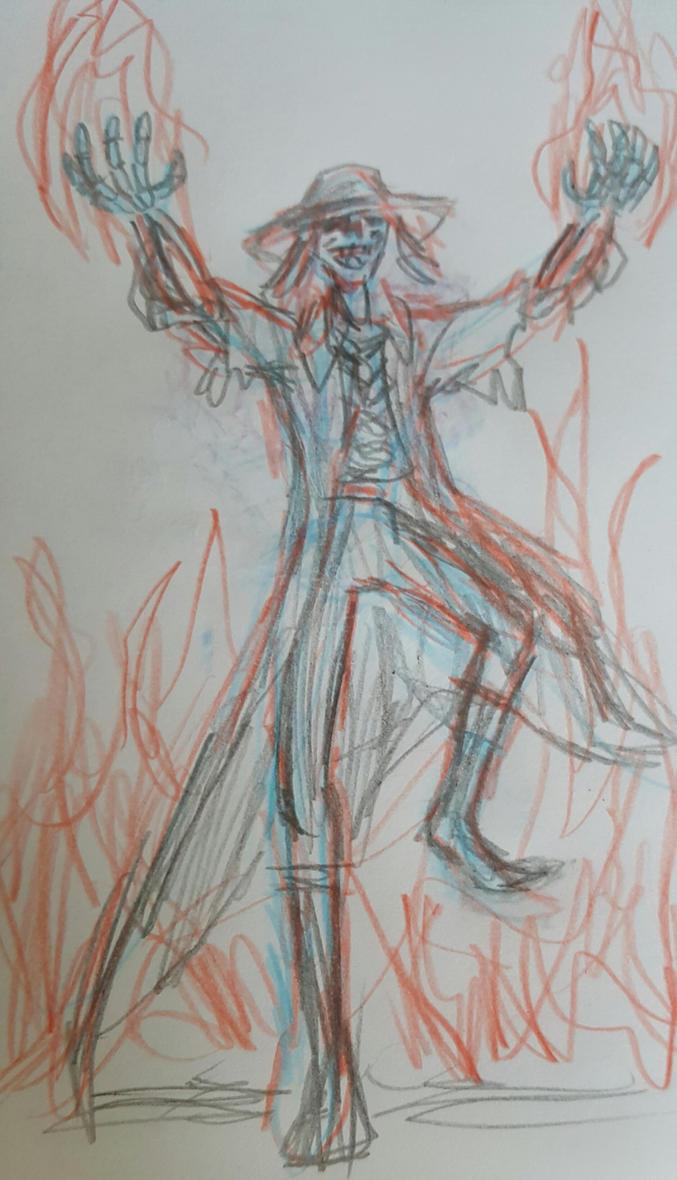 Jerome Wyatt rough concept sketch by TheRavensBastard39
