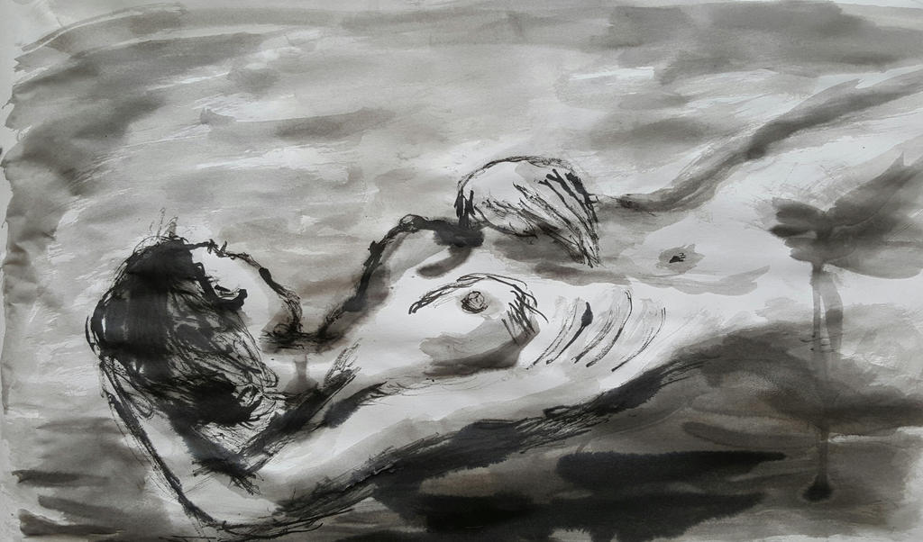 Life Drawing, reclined figure by TheRavensBastard39