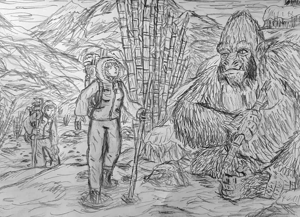 Yeti Encounter by TheRavensBastard39
