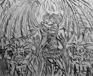 Lucifer In Love rough doodle sketch