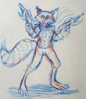 Rocket Raccoon old rough concept sketch