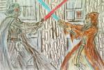 Obi Wan vs Vader rough sketch