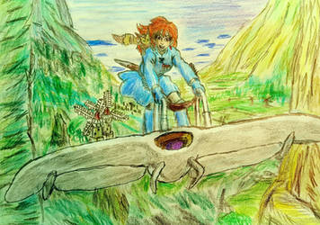 Nausicaa of the Valley of the Wind fanart by TheRavensBastard39