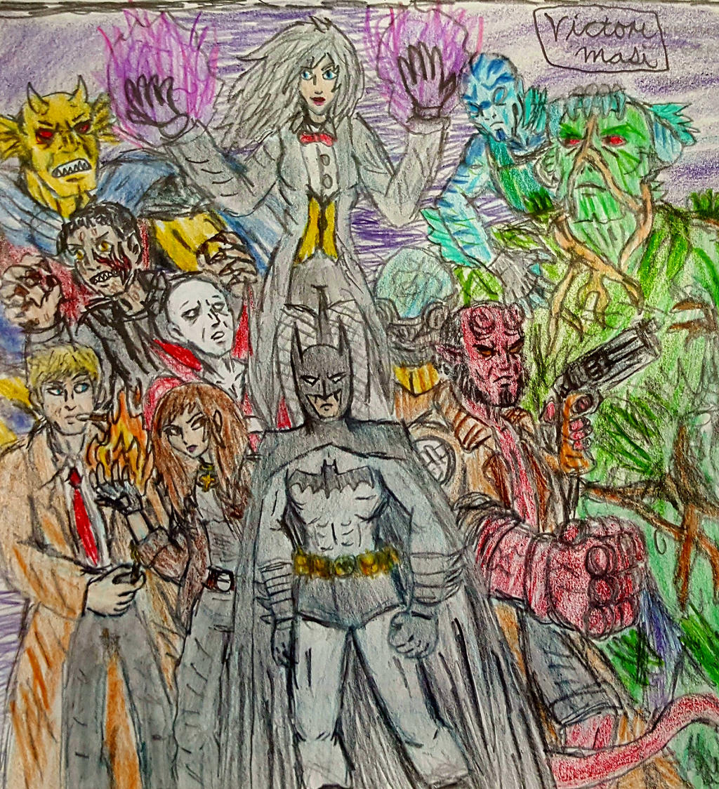 Justice League Dark And The Bprd Concept Sketch By