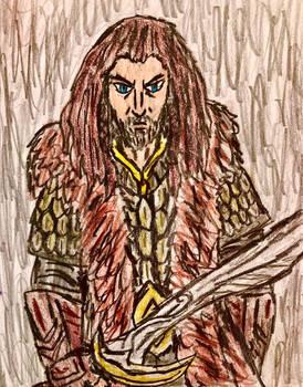 Thorin Oakenshield portrait sketch