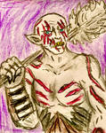 Azog the Defiler doodle portrait sketch