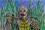 Creature from the Black Lagoon rough doodle sketch