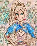 Weiss Schnee rough doodle portrait sketch by TheRavensBastard39