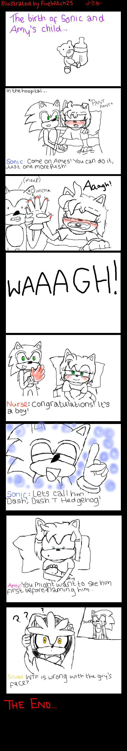 The birth of Sonic and Amy's child by FireWitch25 on ...