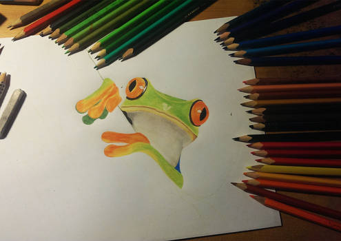 The very beginning of The Frog by daniart-de