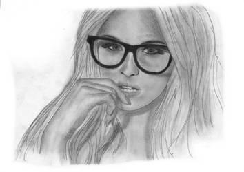 The nerdy girl... by daniart-de