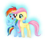 Filly Rainbowdash and Fluttershy