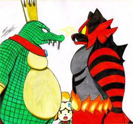 K.Rool vs Incineroar by sendy1992