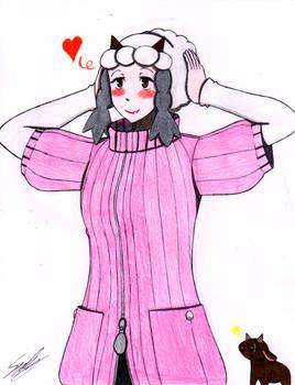 Haru with Wooloo wig