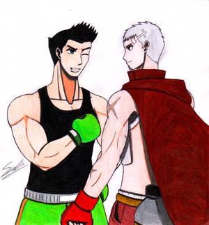 The smol boxing boi meets the Protein boi