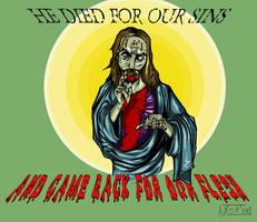 Zombie Jesus by JordanTroy