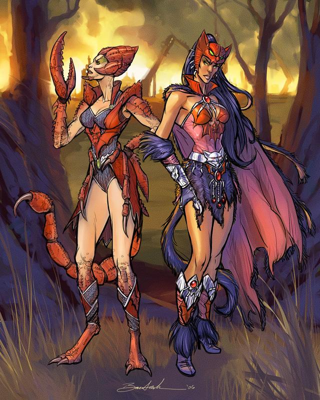 Catra and Scorpia by natebaertsch