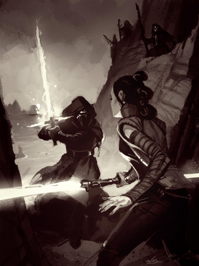 Rey vs Ren by natebaertsch