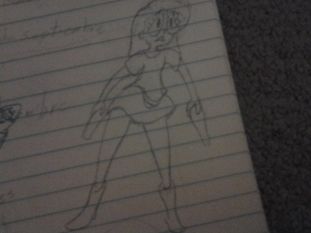 girl doodle during Spanish by kitty55501
