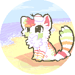 At the Beach :Pixel Commission: by AppleDew