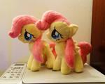 Shy Little Twins :Fluttershy Plushies: