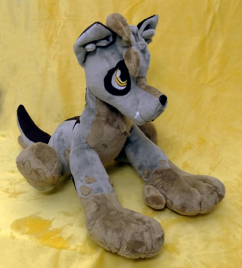 Wolf OC Plush :Commission: by AppleDew