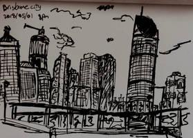 Brisbane city sketch