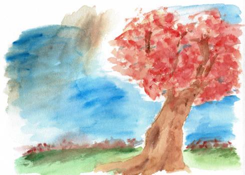 watercolour tree