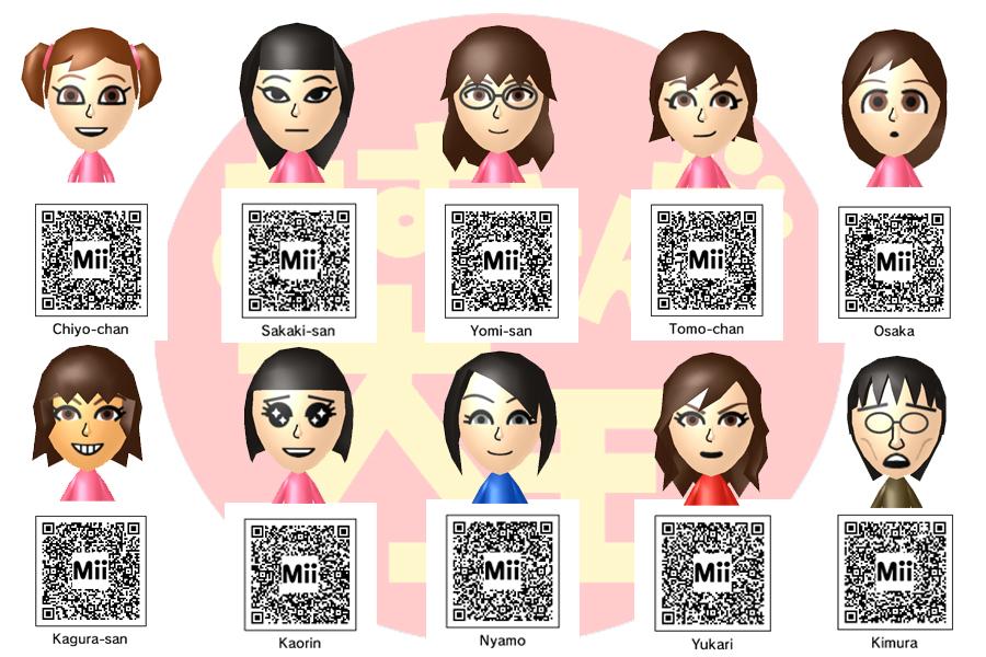 Anime Mii Characters 3ds : Azumanga daioh mii qr code by gallade on deviantart