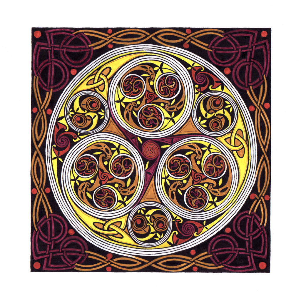 Triskele From The Book Of Kells Folio 34r By SynCallio