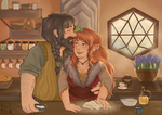 Baking Together - Commission by sweethappily
