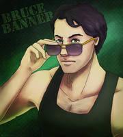 Badass Bruce Banner by AlbinoNial