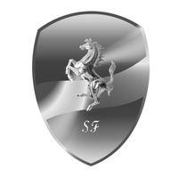Ferrari Logo -  Glass by donycorreia