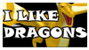 I like Dragons Stamp by Adreos