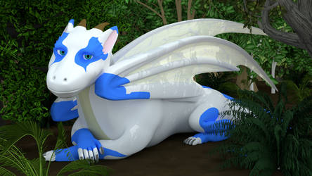 Relaxing Dragon - Cycles Render